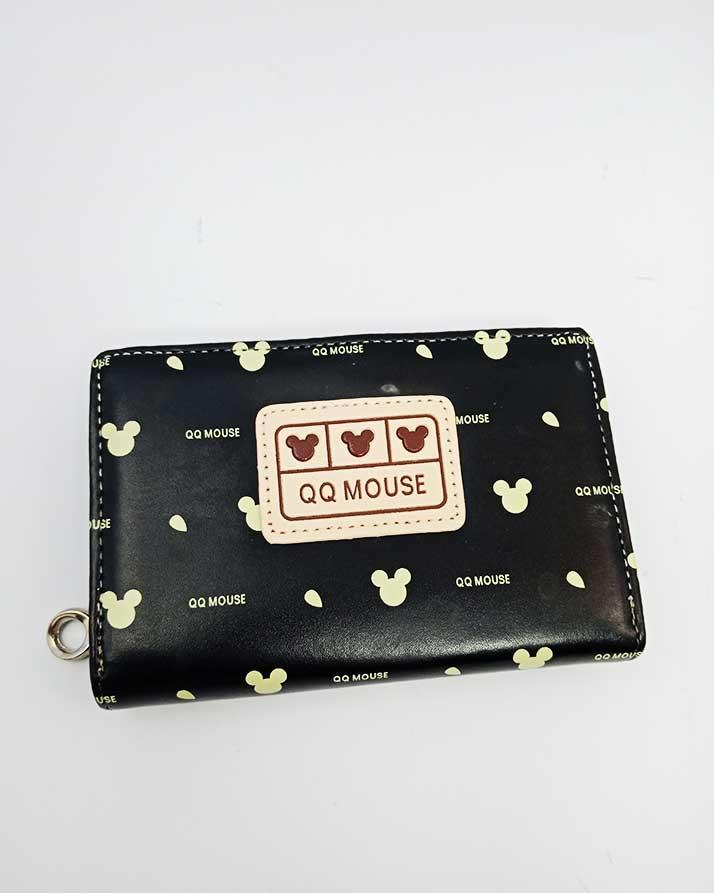 Qq Mouse Black Color Hand Bag With Multiple Card Pockets Online In Pakistan Biktahai Pk