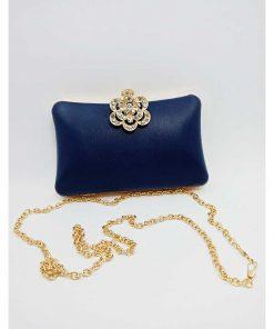 Blue Color Evening Clutch Bag